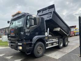 tipper truck Iveco Trakker 500 6X4 - 207.789 KM - FULL STEEL + RETARDER 2012