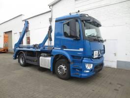 container truck Mercedes-Benz 1827L 4x2 Meiller Absetzkipper Antos 1827 L 4x2, Meiller AK 12 2015