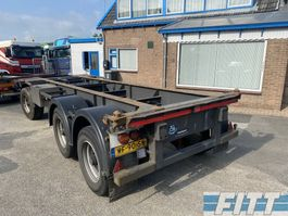 turntable full trailer Burg BPA 10-18 3 ass cont ahw voor 20ft containers  ev met Volvo 2013 FH460 6x2 1990