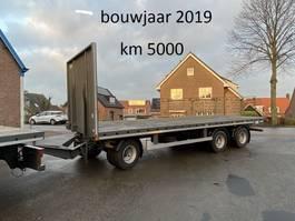 flatbed full trailer Gheysen en Verpoort 3 ass open schamel aanhanger, bladvering, aansluiting meeneemheftruck 2019