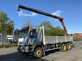 crane truck Renault Kerax 370 6X4 MANUAL FULL STEEL RETARDER + PALFINGER PK16502 MET REMOTE 2007