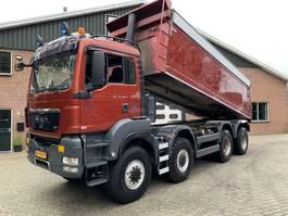 tipper truck MAN TGS 41 8X8 22m3 Hardox Isolated kipper EURO 5 2010