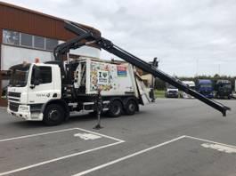 garbage truck DAF CF 75 EEV Met Hiab kraan en Geesink opbouw!!!!!!!!! 2010