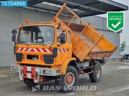 tipper truck Renault S170 4X4 4x4 Manual Big-Axle Steelsuspension 3-seiten 1992