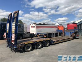 lowloader semi trailer MOL 3ass EURO dieplader, afneembare nek, hydr kleppen 2004