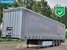 sliding curtain semi trailer Krone SD 3 axles Liftachse Palettenkasten Edscha SAF 2011