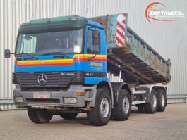 container truck Mercedes-Benz Actros 4140 8x4 - Kipper - Manuel - Full Steel - 30t. Containersysteem, Abrollkipper 2002