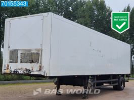 closed box semi trailer Schmitz Cargobull SKO10 1 Axle Lenkachse Iso-Box Ladebordwand (LBW) City-Trailer 2001