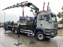crane truck MAN TGA 26 6x2 + CRANE HIAB 245E - 7x + RADIO - PLATFORM 7m10 - MANUAL ZF - LIFT + STEERING AXLE 2005