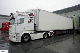 cab over engine Scania R490 6x2 truck w / Krone thermo trailer 2015