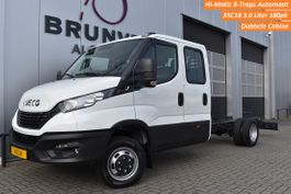 chassis lcv Iveco 35C18DA8/P 3.0 180pk, Hi-Matic 8-Traps Automaat, LUCHTVERING, 7-Pers.Dub... 2021