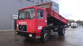 tipper truck MAN 19.291 (BIG AXLES / STEEL SUSPENSION / 6 CYLINDER ENGINE WITH MANUAL PUMP) 1986